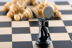 Brutal victory. Chess. Royalty Free Stock Photo