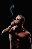 Brutale mens met een sigaar Royalty-vrije Stock Afbeelding