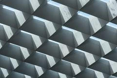 Brutalist architecture roof skylights of concrete glass with lig Royalty Free Stock Image