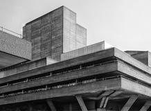 Brutalist concrete Building - Corner Stock Image