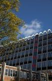 The brutalist & modernist `Toast Rack` building, formerly known. The brutalist & modernist `Toast Rack` building, formerly known as the Hollings Building in Stock Photos
