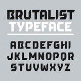 Brutalist typeface Zdjęcie Stock