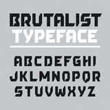 Brutalist typeface, alphabet Royalty Free Stock Photo