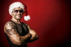 Brutalny Santa obrazy royalty free