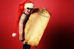 Brutalny Santa fotografia stock