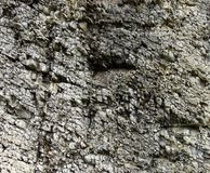 Brute rock formation in gray stone. Brute rock formation in gray fragmented stone royalty free stock image