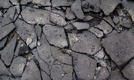 bruten asfalt Fotografering för Bildbyråer