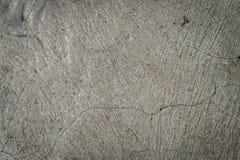 Bruten bakgrund för textur för sprickagrå färgbetong Arkivfoto