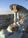 bruten balkong Royaltyfri Bild
