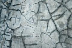 Bruten betongvägg Royaltyfri Bild