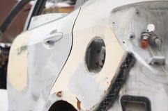 Bruten bil efter en olycka arkivbilder