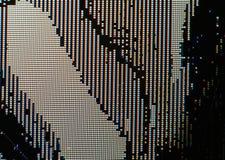 Bruten bild för LCD-skärmcloseup - makro av RGB-PIXEL och defekter Arkivbild
