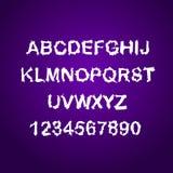 Bruten bokstavsuppsättning för Grunge Bekymrad stilsort för vektor Arkivbild