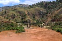 Bruten bro Madagascar Fotografering för Bildbyråer