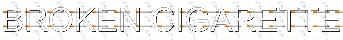 Bruten cigarettbokstav med unikt begrepp Royaltyfri Foto