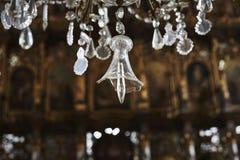Bruten crystal klocka Arkivbilder