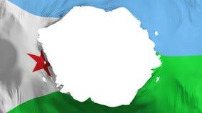 Bruten Djibouti flagga royaltyfri illustrationer