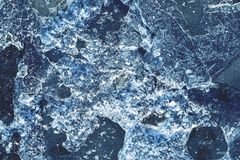 Bruten is för abstrakt textur av blåttfärg Royaltyfria Foton