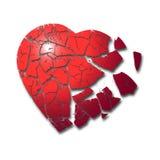 Bruten hjärta Arkivfoto