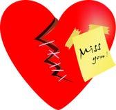 Bruten hjärta Arkivbild