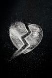 Bruten hjärta av socker Royaltyfria Foton