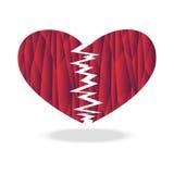 Bruten hjärta för polygon Royaltyfri Foto