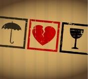 Bruten hjärta för vektor valentin vektor illustrationer