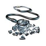 Bruten hälsovård Arkivbild