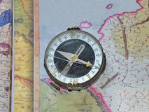 Bruten kompass Royaltyfri Fotografi