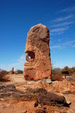 Bruten kulle, skulptursymposium, Australien Arkivfoton