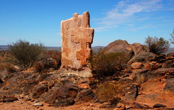 Bruten kulle, skulptursymposium, Australien Royaltyfria Foton