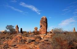 Bruten kulle, skulptursymposium, Australien Arkivfoto