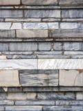 Bruten marmorvägg, Royaltyfri Foto