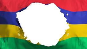 Bruten Mauritius flagga royaltyfri illustrationer