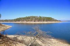Bruten pilbåge sjö, Oklahoma Royaltyfri Foto