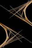 Bruten pinne på svart bakgrund Royaltyfri Fotografi
