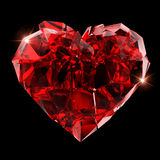 Bruten röd hjärta Royaltyfria Foton