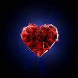 Bruten röd hjärta Royaltyfri Bild