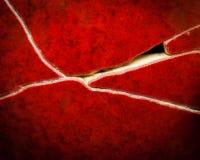 Bruten röd kruka 2 arkivbilder