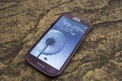 Bruten skärm på en Samsung telefon Royaltyfri Bild