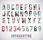 Bruten stilsort för alfabet Arkivfoto