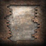 Bruten tegelstenvägg Royaltyfri Fotografi