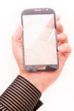 Bruten telefonpekskärm Arkivfoto
