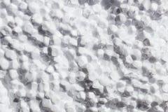 Bruten vit polyfoamtexturbakgrund Arkivbilder