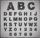 Brutet alfabet Royaltyfria Bilder