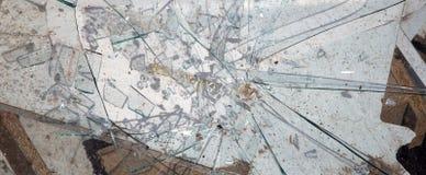 Brutet exponeringsglas, kan användas som bakgrund Royaltyfria Bilder