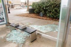 Brutet exponeringsglas på hållplatsen Royaltyfria Foton