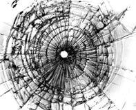 Brutet fönster arkivfoto