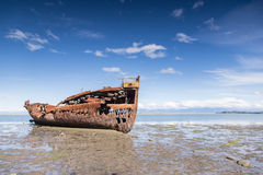 Brutet fartyg i Motueka Royaltyfri Foto