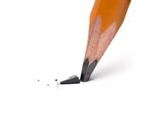 Brutet huvud av den skarpa blyertspennan Royaltyfri Bild